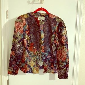 Jackets & Blazers - Metallic Floral Jacket